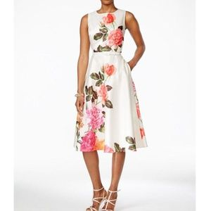 Jessica Howard  - Floral-Print A-Line Dress